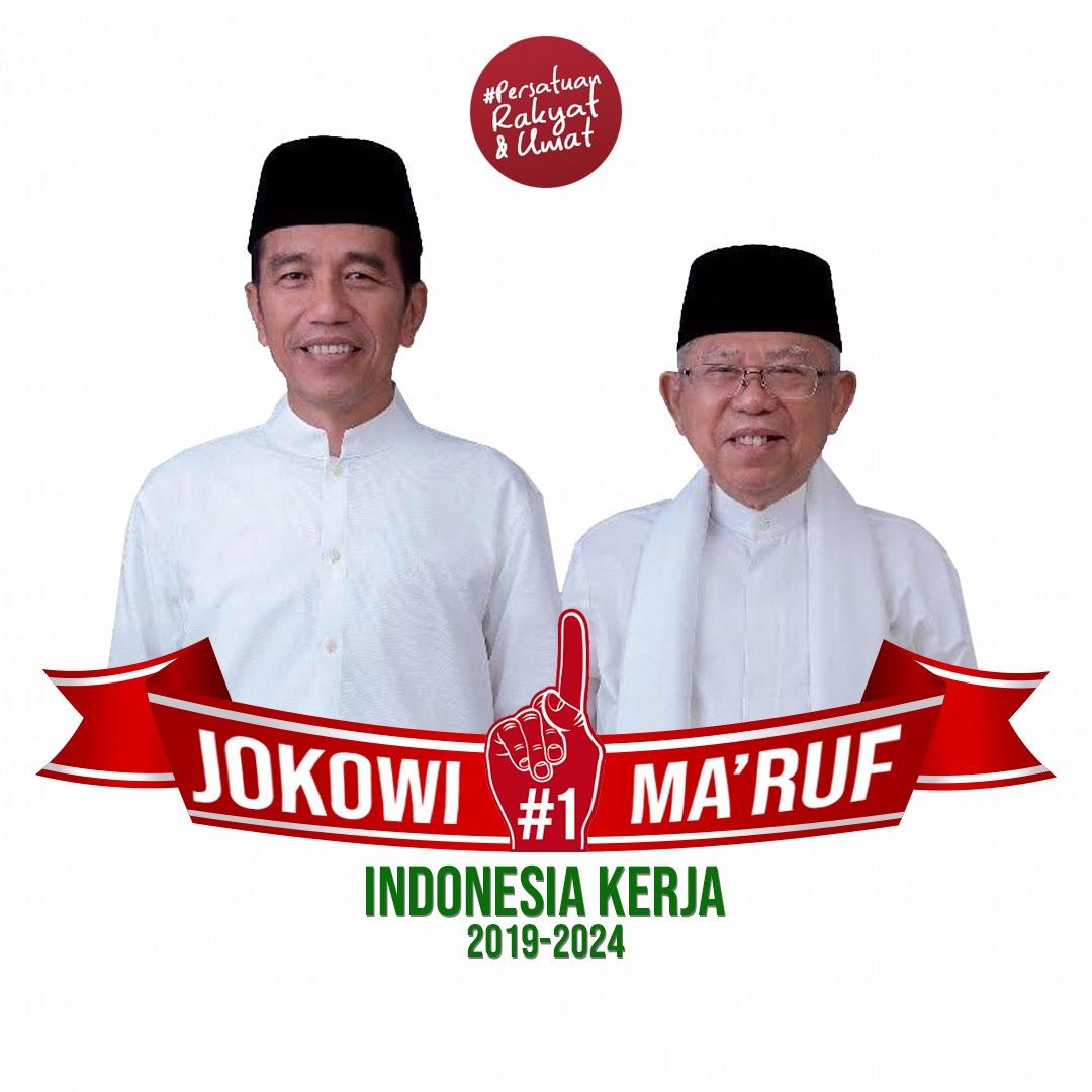 Jokwi dan KH. Ma'ruf Amin #SATUkanIndonesia