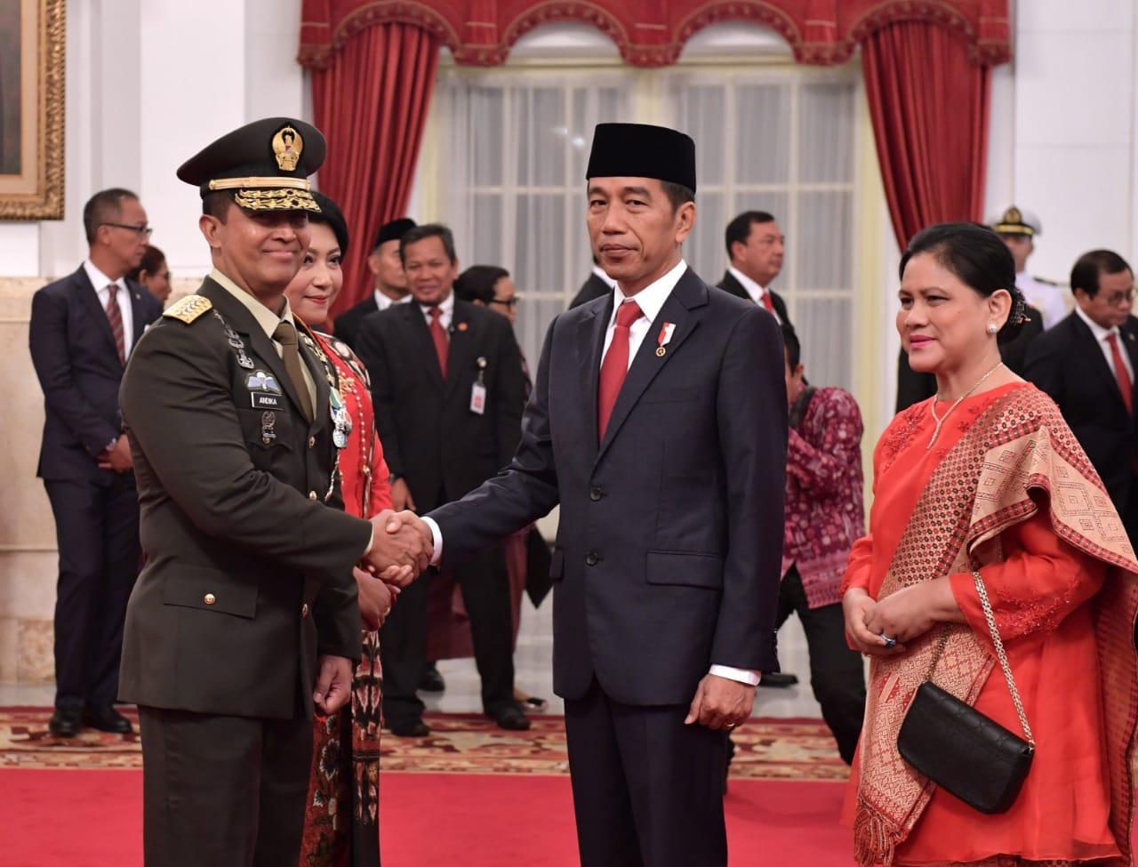Presiden Jokowi Lantik Andika Perkasa sebagai KSAD ...