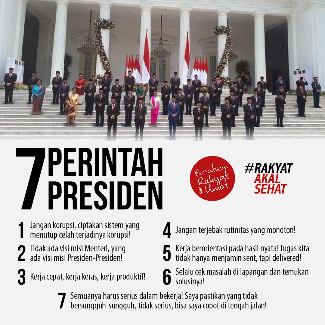 tujuh perintah presiden