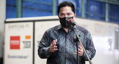 Menteri BUMN Erick Thohir sambut 8 juta vaksin Sinovac
